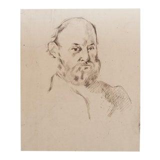 1959 Paul Cézanne Self-Portrait, Large Hungarian Photogravure For Sale