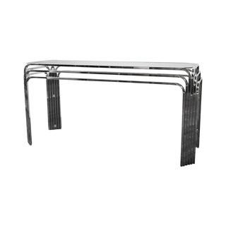 1970's Chrome Console Table by the Design Institute of America For Sale