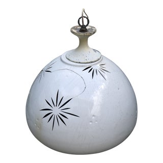 Mid-Century Modern Starburst Ceramic Hanging Lamp For Sale