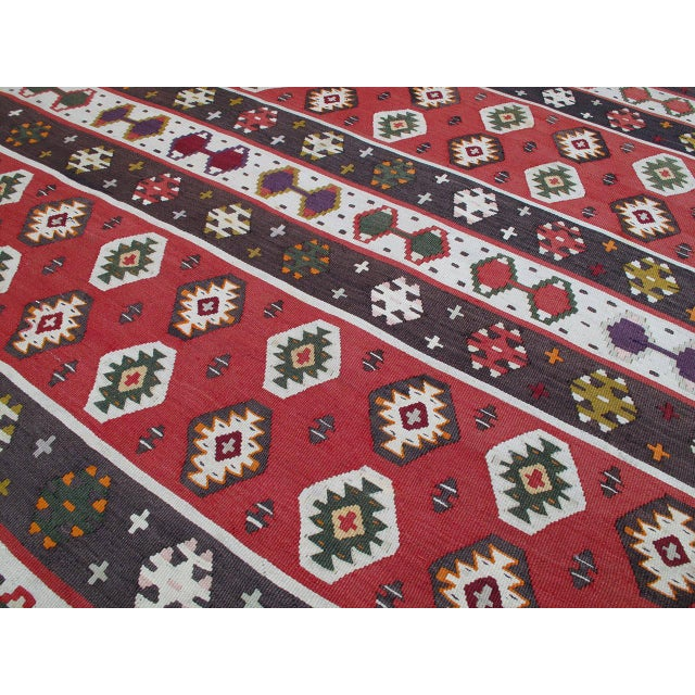 Textile Balkan Kilim For Sale - Image 7 of 9