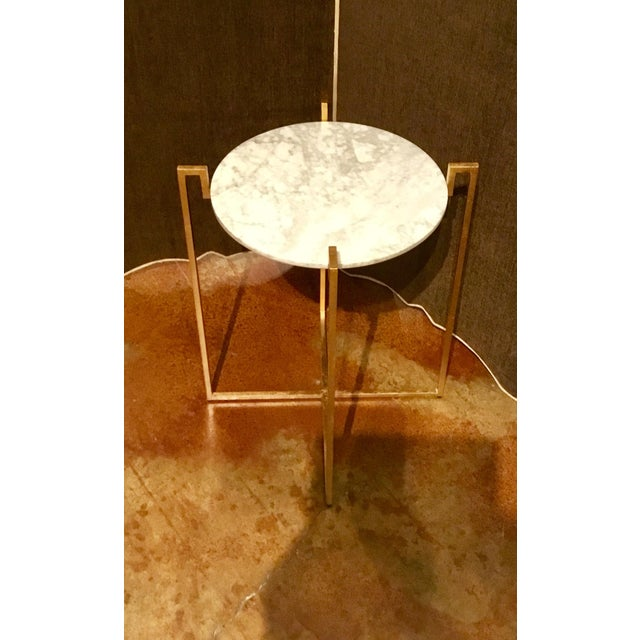 Worlds Away Abel Gold Side Table - Image 3 of 6