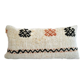 Pillow Cover Kilim Lumbar. 100% Natural Pure Hemp Sham - 13ʺ X 26ʺ For Sale