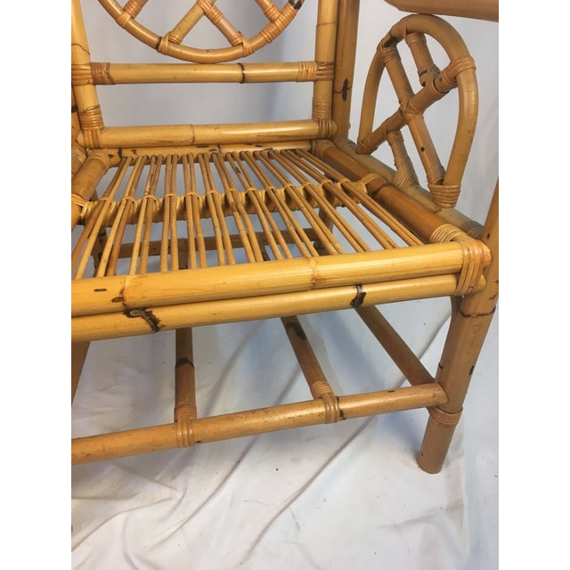 Wood Vintage Chippendale Rattan Chairs - a Pair For Sale - Image 7 of 9
