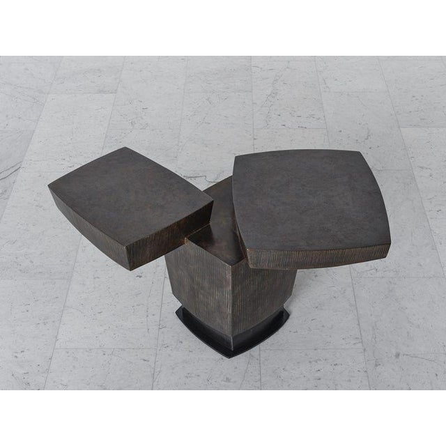 Metal Gary Magakis, Ledges 2 Patined Steel Side Table, USA, 2016 For Sale - Image 7 of 8