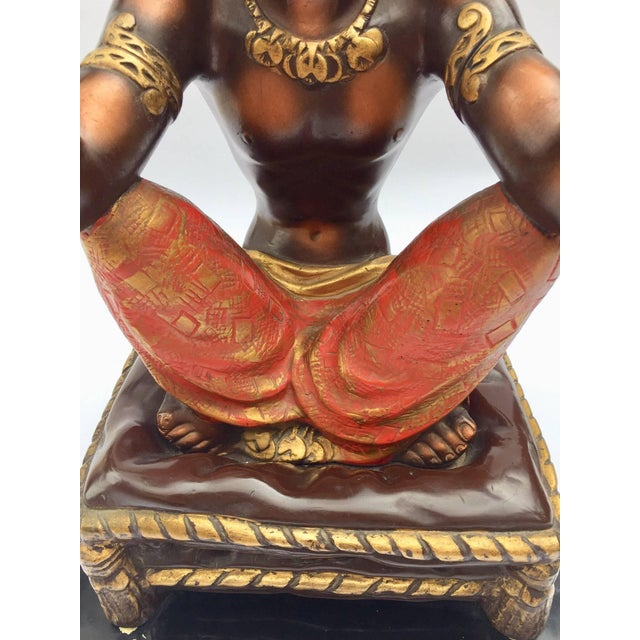 Vintage Mid-Century Blackamoor Nubian Side Table Stand For Sale - Image 10 of 13
