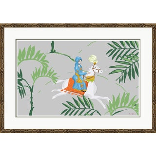 """""""Sultan Rider, Blue"""" By Dana Gibson, Framed Art Print For Sale"""