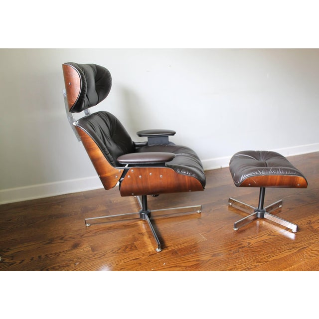 Plycraft Mid-Century Lounge Chair & Ottoman - Image 3 of 10
