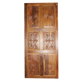 Antique Carved Barn Door For Sale