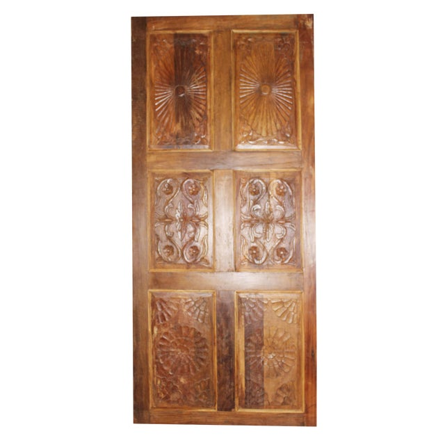 Antique Carved Barn Door For Sale