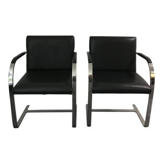 1980's Vintage Mies Van Der Rohe Brno Chairs - a Pair For Sale