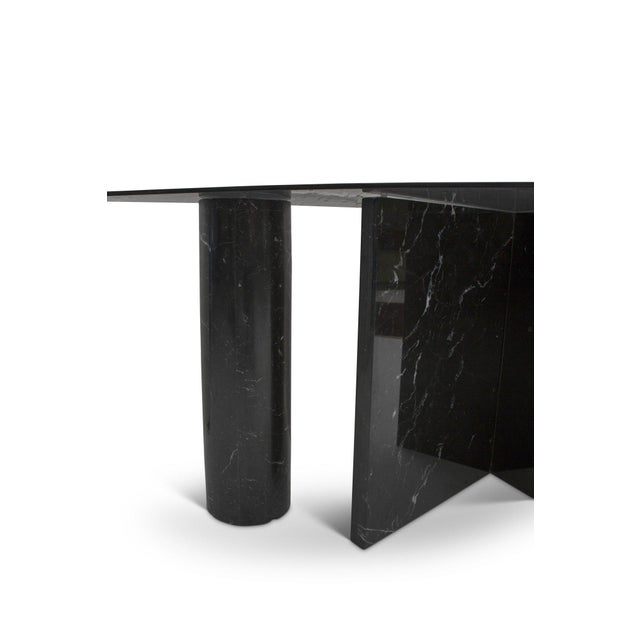 Abstract 1980s Abstract Marble Console Table For Sale - Image 3 of 6