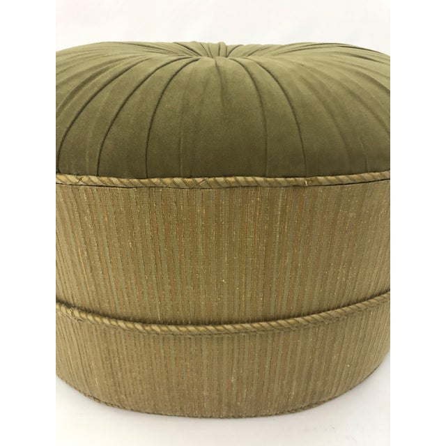 1990s 1990s Vintage Schnazzy Oval Ultrasuede Ottoman Pouf For Sale - Image 5 of 8