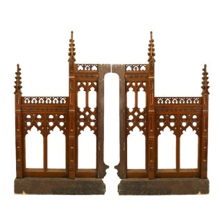 Pair of 19th Century English Gothic Revival Railing Panels For Sale