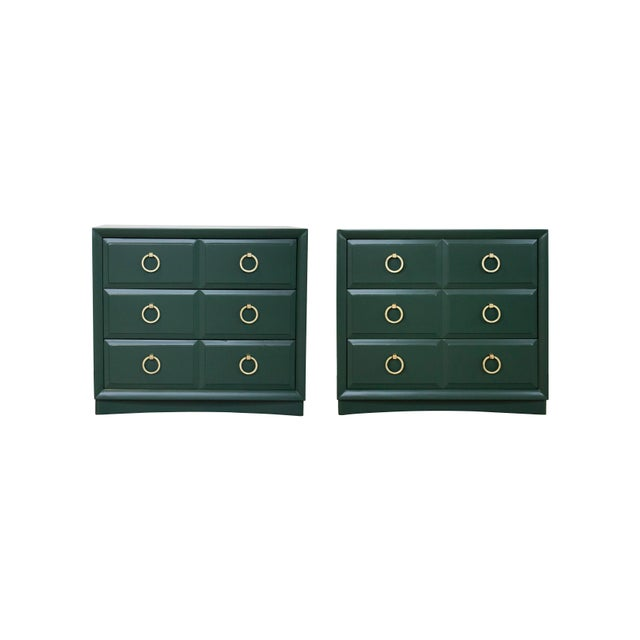 Pair of Chest Dressers by t.h. Robsjohn-Gibbings for Widdicomb For Sale - Image 9 of 9