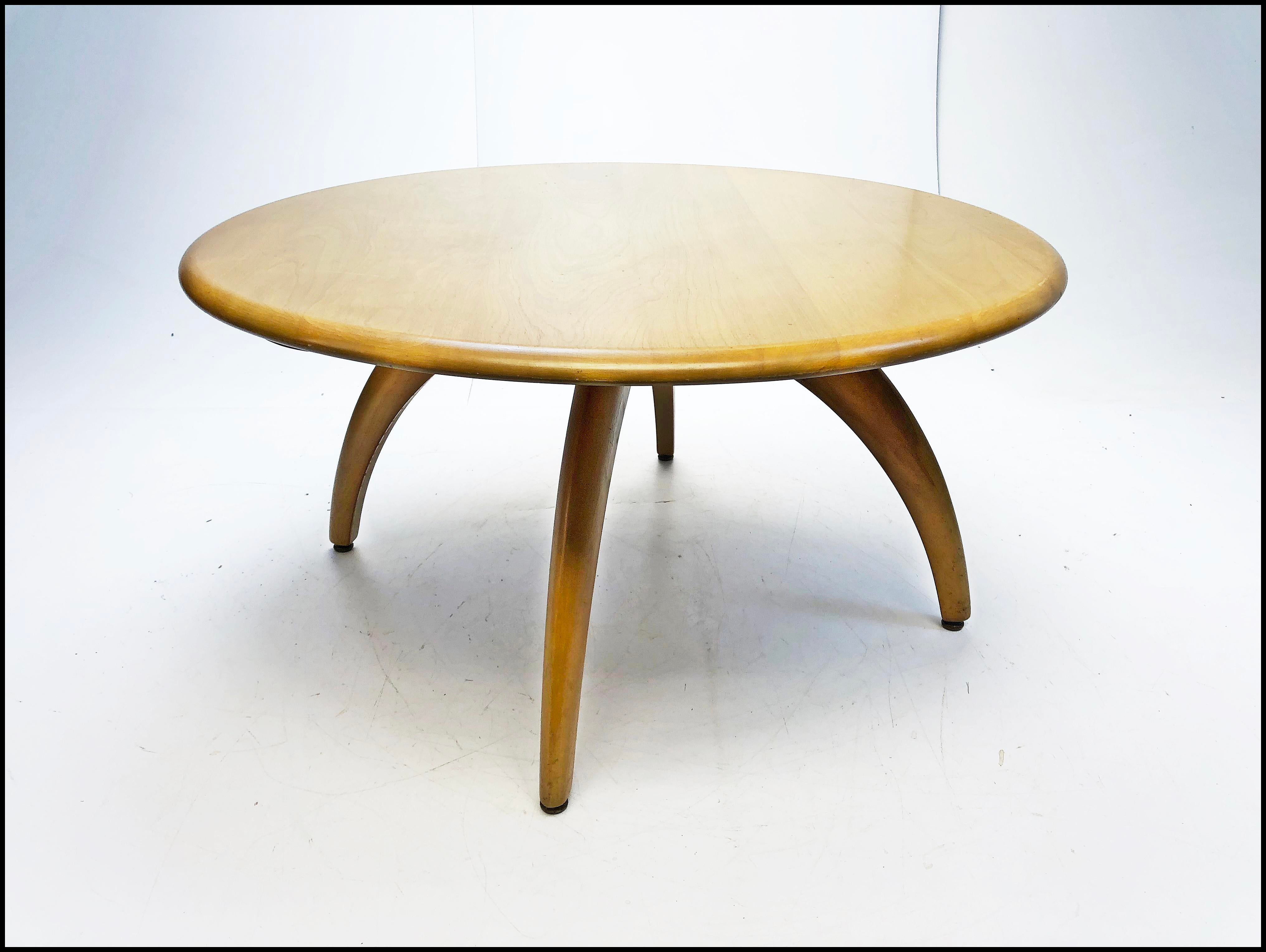 Exceptionnel Mid Century Modern Heywood Wakefield Lazy Susan Coffee Table   Image 5 Of 13