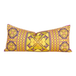 Jasu Swati Embroidered Phulkari Pillow For Sale