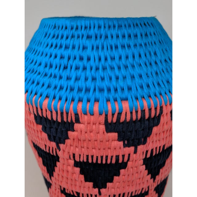 African Woven Vase - Made in Swaziland For Sale - Image 10 of 13