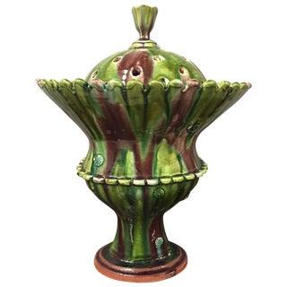 Handsome Studio Pottery Tulip Pot For Sale