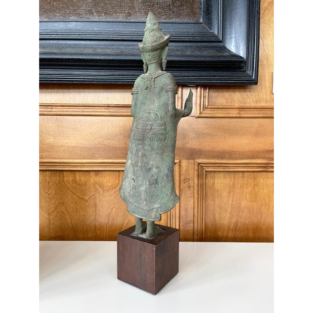 Antique Lopburi Buddha Statue from Thailand For Sale - Image 9 of 13
