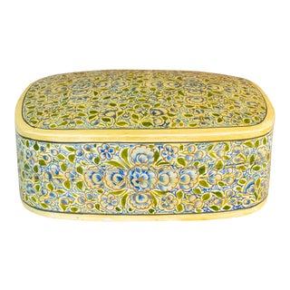 Ivory Painted Kashmiri Box For Sale