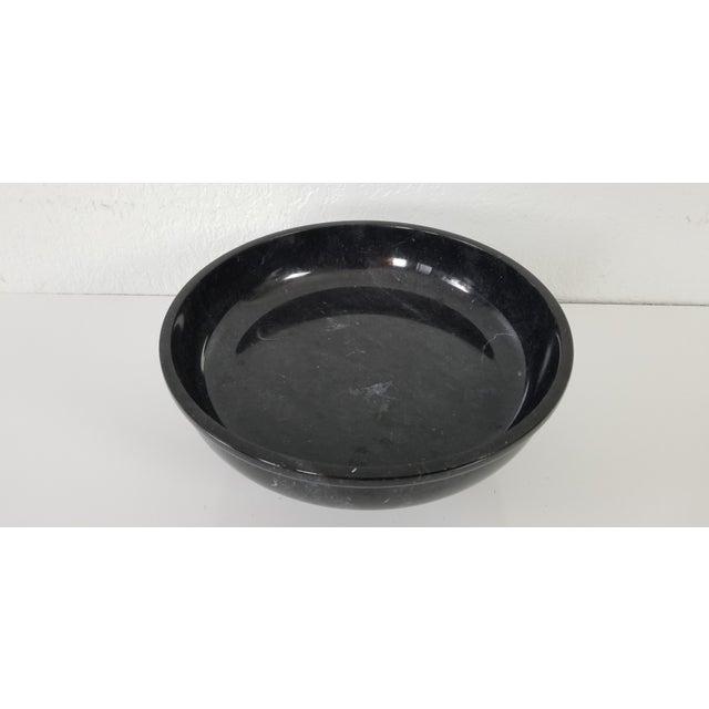 Vintage Black Marble Pedestal Bowl For Sale In Miami - Image 6 of 9