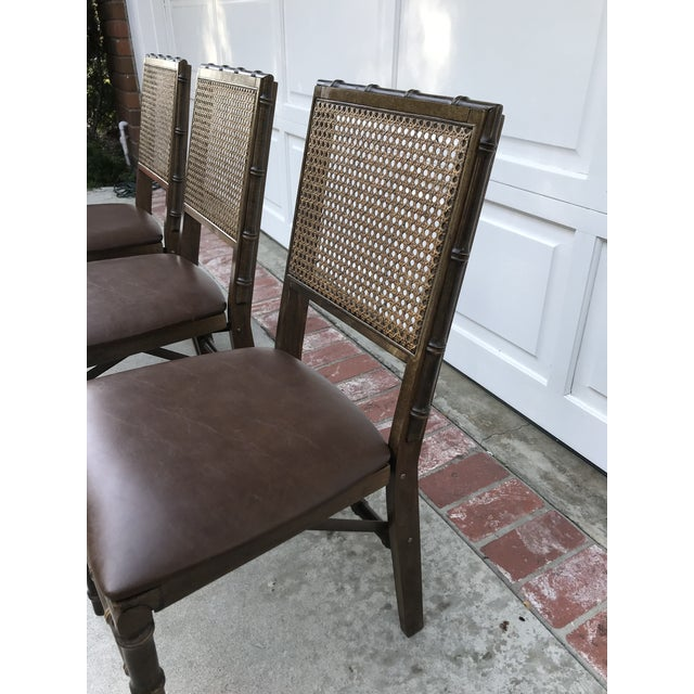 Vintage Bamboo Folding Chairs - Set of 3 - Image 3 of 6