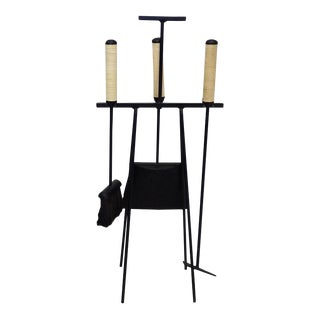 Tony Paul Wrought Iron Fire Place Tools For Sale