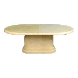 Mid-Century Modern Art Deco Karl Springer Goatskin Table For Sale