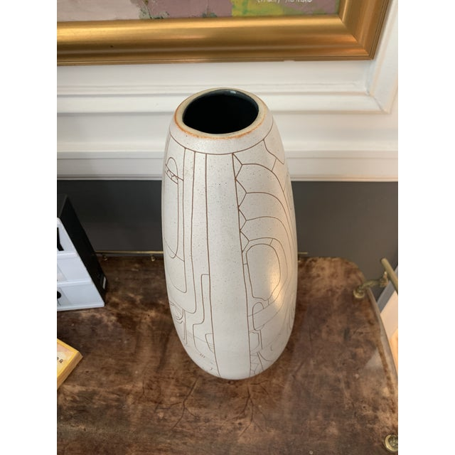 Lapid Pottery Works Lapid Hand Thrown Ceramic Vase For Sale - Image 4 of 8