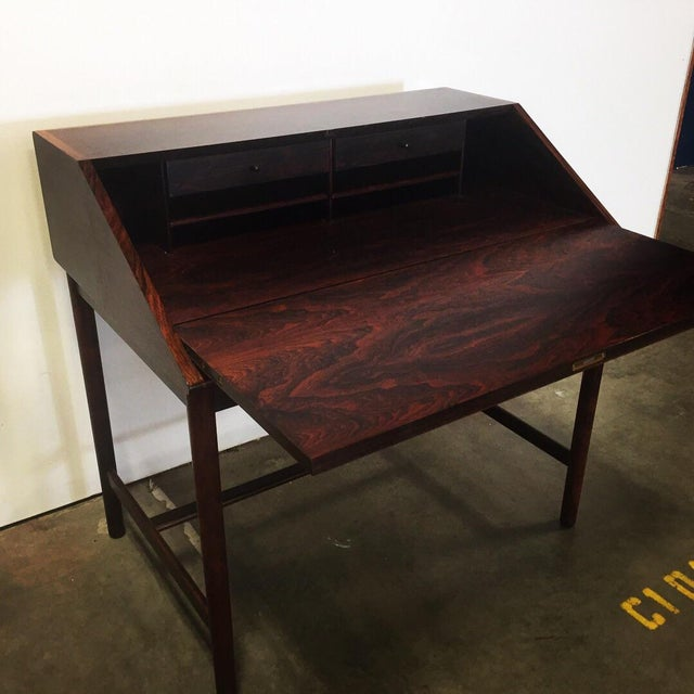 Mid-Century Torbjørn Afdal Rosewood Secretary Desk For Sale - Image 9 of 9