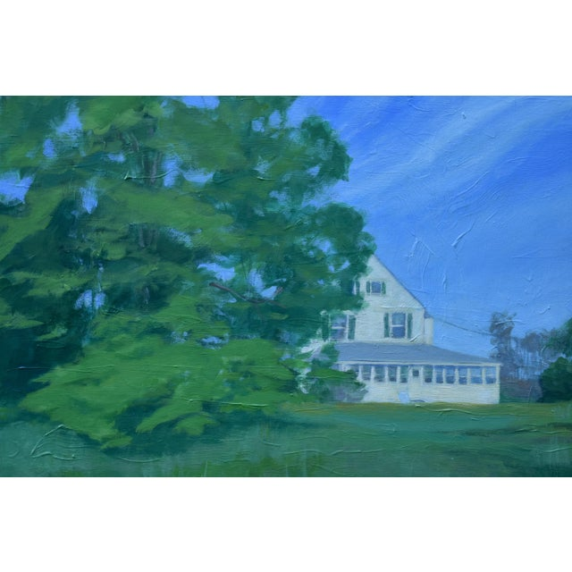 """Contemporary Stephen Remick """"House Behind the Tree by the Road"""" Contemporary Painting For Sale - Image 3 of 10"""