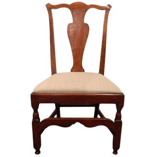 New England Maple Chippendale Style Desk or Side Chair, 19th Century For Sale