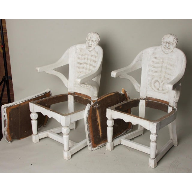 White Late 19th Century Antique Anatomical Chairs- A Pair For Sale - Image 8 of 9
