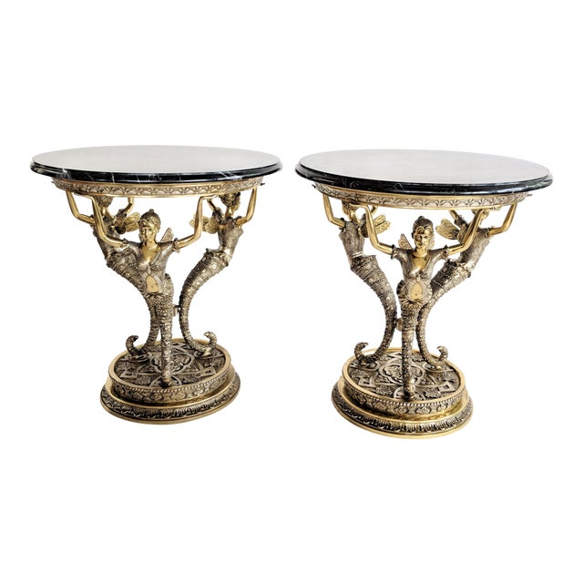 Art Nouveau Bronze Mythical Fairy Figural Tables - A Pair - Image 1 of 11
