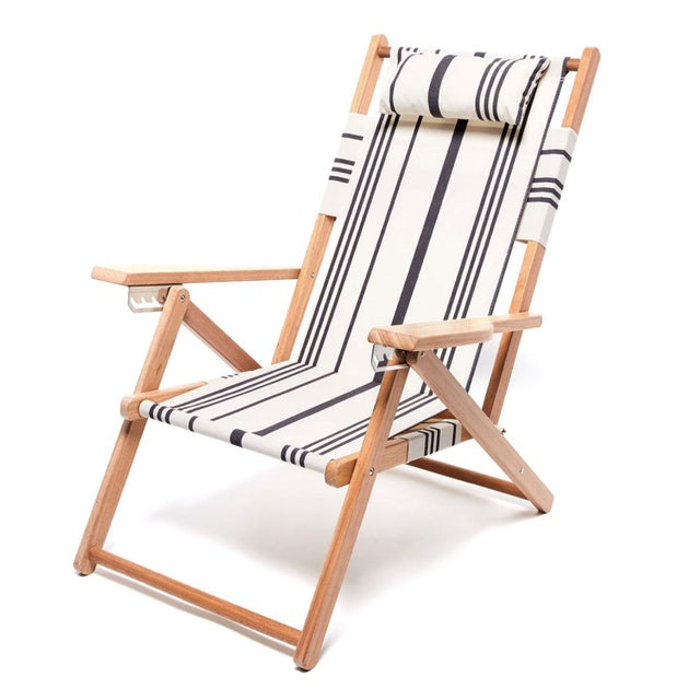 2020s Tommy Outdoor Chair - Vintage Black Stripe For Sale - Image 5 of 5