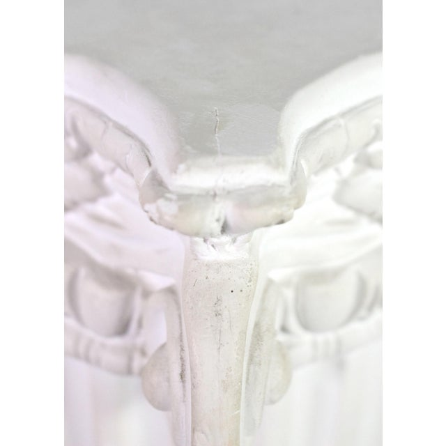 1960s White Plaster Romanesque Ionic Scroll Column Display Pedestal For Sale In Los Angeles - Image 6 of 8