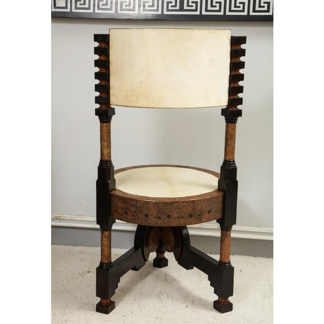 Carlo Bugatti-Style Writing Desk with Chair For Sale - Image 10 of 12