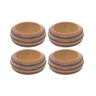 Mid-Century Modern Oak Napkin Rings, Set of 4 For Sale