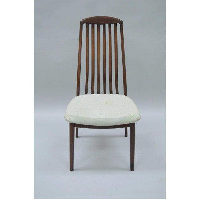 Vintage Dyrlund Mid Century Danish Modern Teak Dark Wood Dining Side Chair For Sale - Image 10 of 11