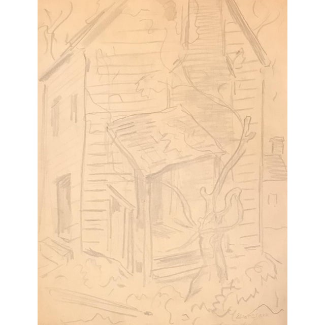 Eliot Clark WPA Style Drawing For Sale