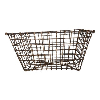 Rusted Metal Oyster Basket For Sale