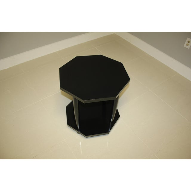 1940s 1940s French Art Deco Black Ebonized Coffee/Side Table For Sale - Image 5 of 13