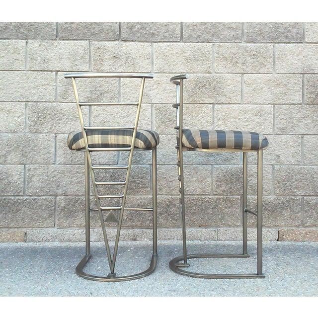 Milo Baughman Bar Stools -- A Pair - Image 3 of 10