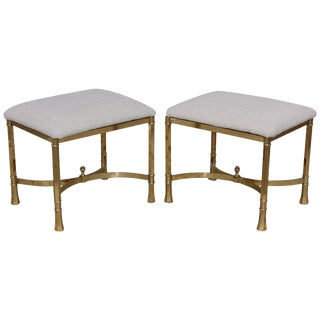 1970s Modern Italian Brass Ottomans For Sale