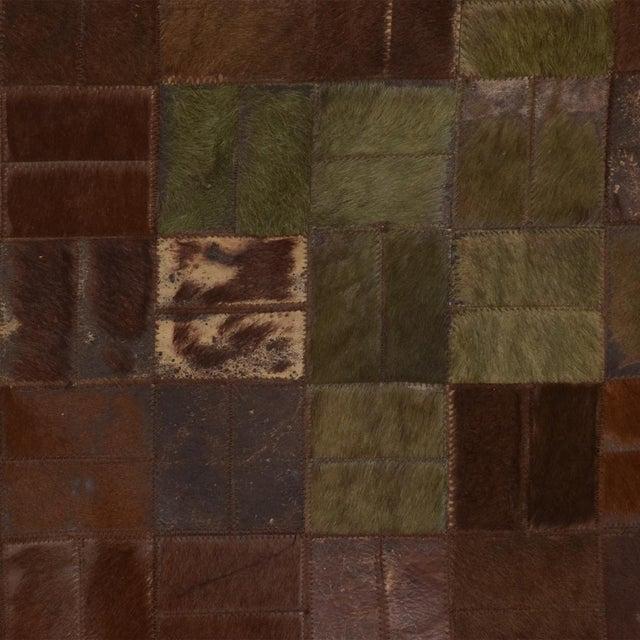 Brutalist Brutalist Patchwork Cowhide Leather Rug- 8′3″ × 13′2″ For Sale - Image 3 of 9