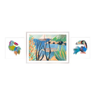 Bird's Eye Gallery Wall, Set of 3 For Sale