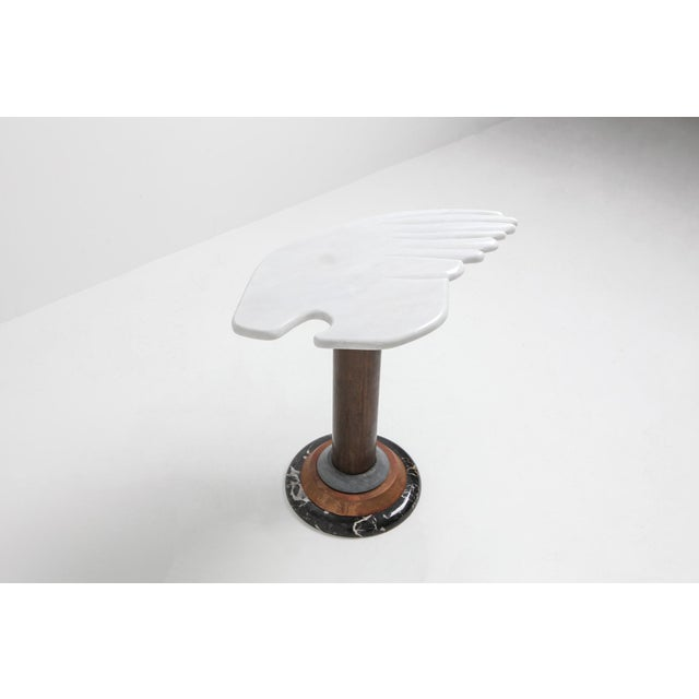 Marble Angel Wing Side Table For Sale - Image 4 of 9