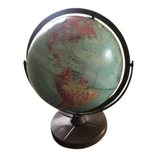 Mid-Century Replogle Stereo Relief Globe For Sale