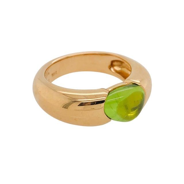 Italian Pomellato Sassi Peridot 18k Rose Gold Ring Original Box For Sale - Image 3 of 6