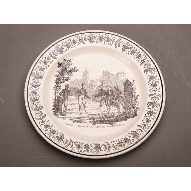 Contemporary Set Eight Antique French Transferware Plates, c.1860 For Sale - Image 3 of 11